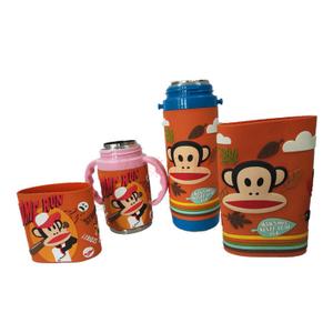 热销环保食品級矽膠水杯套户外便携式 可折叠礼品矽膠杯套