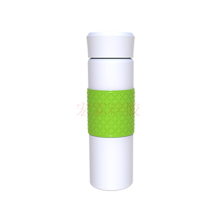 防滑耐温矽膠杯套 可定制多色矽膠水杯保护套 矽膠水杯套